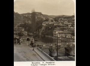 AK-0790/ Sarajevo Scheher Cehajin-Brücke Bosnien NPG Stereofoto 1909