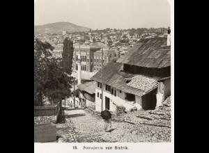 AK-0798/ Sarajevo von Bistrik Bosnien Stereofoto 1909