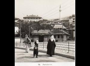 AK-0800/ Sarajevo Bosnien Stereofoto 1909