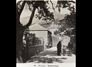 AK-0801/ Mostar Straßenbild Bosnien Stereofoto 1909