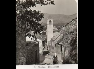 AK-0802/ Mostar Straßenbild Bosnien Stereofoto 1909