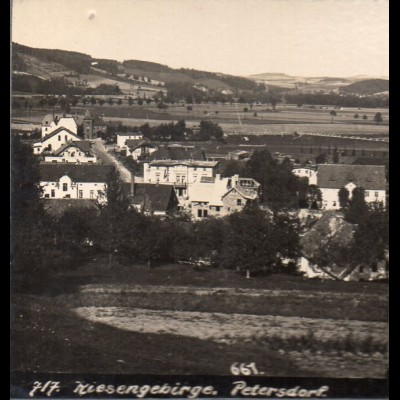 AK-01040/ Riesengebirge Petersdorf Schlesien Stereofoto ca.1905