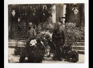 C3072/ Aufbahrung von Hauptmann Klie Foto 1917 1. Weltkrieg Beerdigung