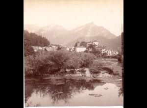 AK-01082/ Golling Salzburg Stereofoto v Alois Beer ~ 1900