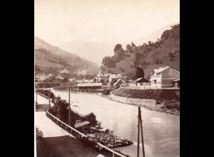 AK-01081/ Lend Salzburg Stereofoto v Alois Beer ~ 1900
