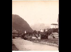 AK-01078/ Kaprun mit Kitzsteinhorn Salzburg Stereofoto v Alois Beer ~ 1900