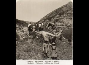 AK-1160/ Kaukasus Piatigorsk Aufstieg zum Urlesch Rußland NPG Stereofoto ca.1905