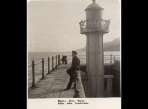 AK-1145/ Krim Jalta Leuchtturm Rußland NPG Stereofoto ca.1910