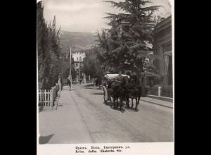 AK-1144/ Krim Jalta Ekaterin Straße Rußland NPG Stereofoto ca.1910