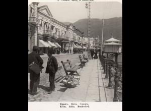 AK-1143/ Krim Jalta Boulevard Rußland NPG Stereofoto ca.1910