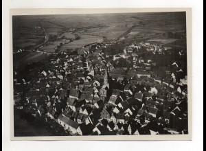 ZZ-4570/ Eggingen Foto seltenes Luftbild ca.1938 18 x 13 cm