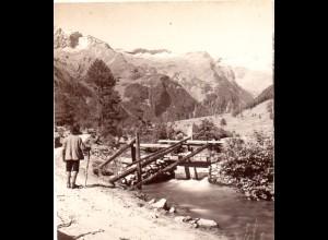 AK-1270/ Ankogel vom Seebachtal Kärnten Stereofoto v Alois Beer ~1900