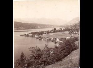 AK-1276/ Millstatt von Ost Kärnten Stereofoto v Alois Beer ~1900