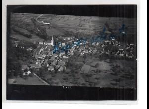 ZZ-4562/ Bauerbach bei Bretten Foto seltenes Luftbild ca. 1938 18 x 13 cm