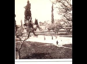 AK-1314/ Palästina Jerusalem Omar-Moschee Stereofoto Alois Beer v ~ 1900