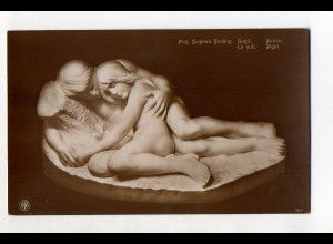 "Y12007/ Skulpturen erster Meister Prof. Sephan Siding ""Nacht"" NPG Foto AK ca1912"