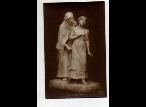 Y12017/ Skulptur Die Versucherin Foto Ak ca.1912