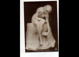 """Y12015/ Skulptur Cav. Valentiono """"Die Quelle"""" Foto AK ca.1912"""