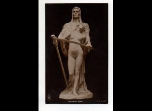 """Y12020/ Skulptur Elna Borch """"Erlöst"""" Foto Ak ca.1912"""
