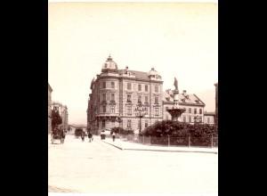 AK-1543/ Innsbruck Margarethenplatz Tirol Stereofoto v Alois Beer ~ 1900