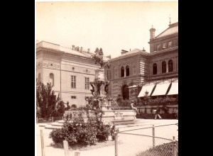 AK-1541/ Innsbruck Erzherzog Leopold Brunnen Stereofoto v Alois Beer ~ 1900
