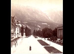 AK-1540/ Innsbruck Rennweg Tirol Stereofoto v Alois Beer ~ 1900