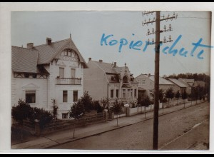 C3047/ Lenzen a.d.Elbe Bahnhofstraße altes Foto 17 x 12 cm ca.1905 -AK-