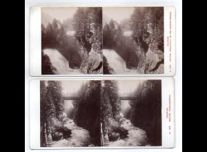 AK-1748/ 2 x Salzburg Gastein Stereofoto v Alois Beer ~ 1900