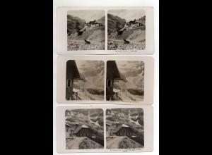 AK-1780/ 3 x Trauneralpe Hohe Tauern NPG Foto Stereofoto ca.1910