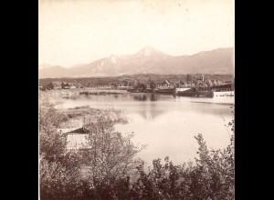 AK-1832/ Leonhard-See bei Villach Kärnten Stereofoto v Alois Beer ~ 1900