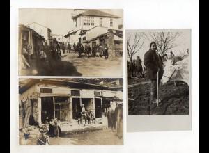 Y12429/ 3 x Foto Balkan Typen ca.1915