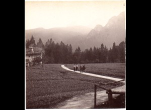 AK-1868/ Fußweg zum Königssee Stereofoto v Alois Beer ~ 1900