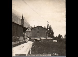 AK-2037/ Cortina de Ampezzo Südtirol Italien Stereofoto ca.1905