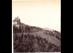 AK-2130/ Südbahn Hotel mit Rax Semmering Stereofoto v Alois Beer ~ 1900