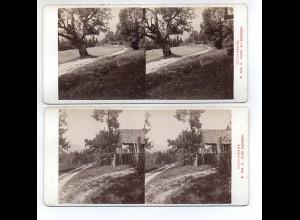 AK-2143/ 2 x Radegrund Steiermark Stereofoto v Alois Beer ~ 1900