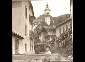 AK-2150/ Perau bei Villach Kärnten Stereofoto ca.1905