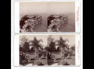 AK-2145/ 2 x Monaco Stereofoto v Alois Beer ~ 1900