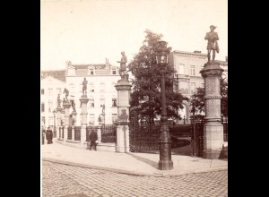 AK-2100/ Brüssel Parkanlage Petit Dablon Belgien Stereofoto v Alois Beer ~ 1900