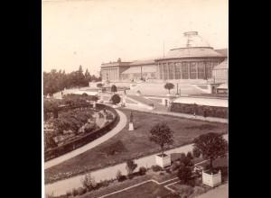 AK-2099/ Brüssel Botanischer Garten Belgien Stereofoto v Alois Beer ~ 1900