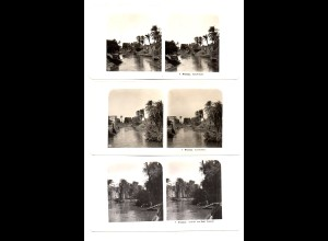 AK-2163/ 3 x Fayum Fayyum Ägypten NPG Stereofoto 1906