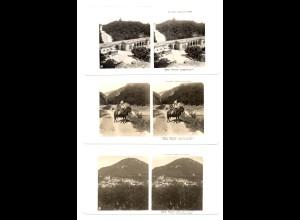 AK-2156/ 3 x Piatigorsk Kaukasus Rußland NPG Stereofoto ca.1905