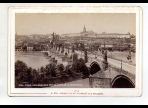 AK-2078/ Prag Karlsbrücke Tschechien Kabinettfoto Alois Beer ~ 1900
