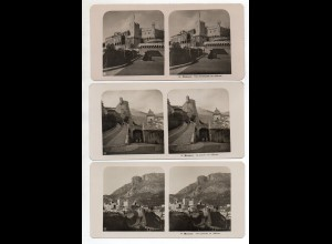 AK-2227/ 3 x Monaco NPG Stereofoto ca.1905