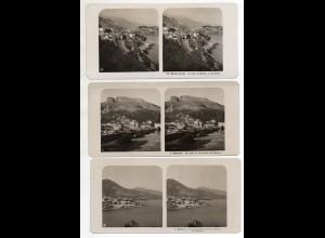 AK-2228/ 3 x Monaco NPG Stereofoto ca.1905