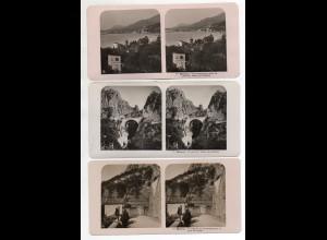 AK-2231/ 3 x Menton Frankreich NPG Stereofoto ca.1905