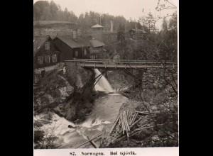AK-2220/ Bei Gjövik Norwegen NPG Stereofoto ca.1910