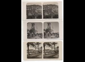 AK-2680/ 3 x Cannes Frankreich NPG Foto Stereofoto 1904