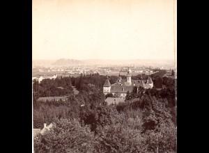 AK-2190/ Schloß Eggenberg mit Graz Steiermark Stereofoto v Alois Beer ~ 1900