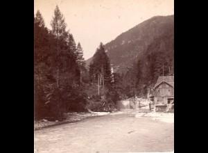 AK-2178/ Gosauzwang Salzkammergut Stereofoto v Alois Beer ~ 1900