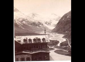AK-2177/ Moserboden mit Hotel Salzburg Stereofoto v Alois Beer ~ 1900